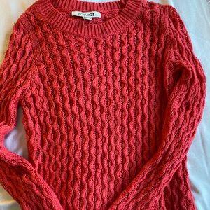 Warm hot pink sweater